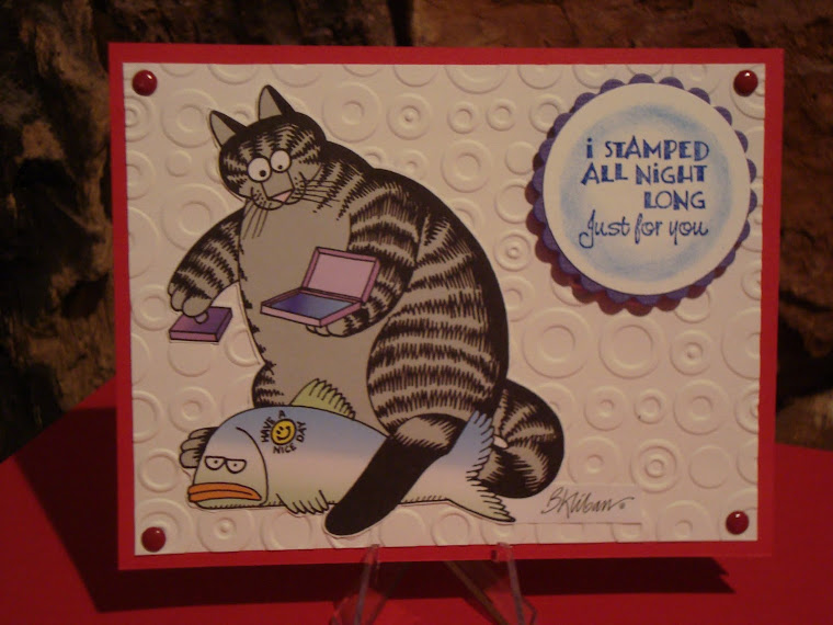 Besides stamping, I love cats!  And coffee...lots of coffee.