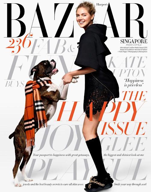 Actress, Model, @ Kate Upton - Harpers Bazaar Singapore, January 2016