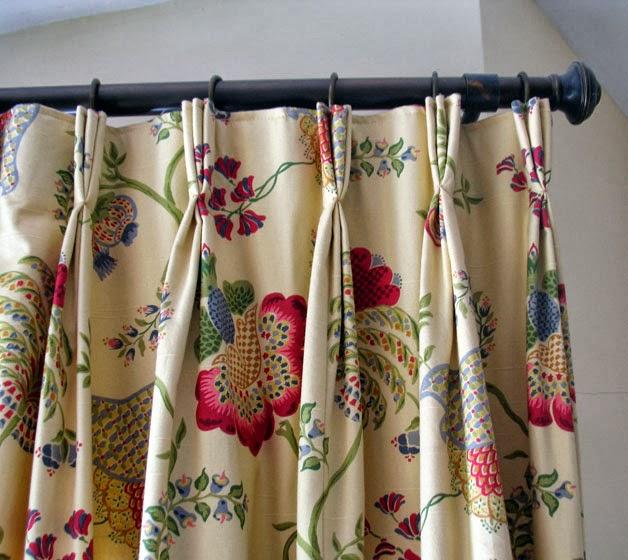 Tapicer a sarasol decoraci n cortinas con pliegue franc s - Cortinas con estilo ...