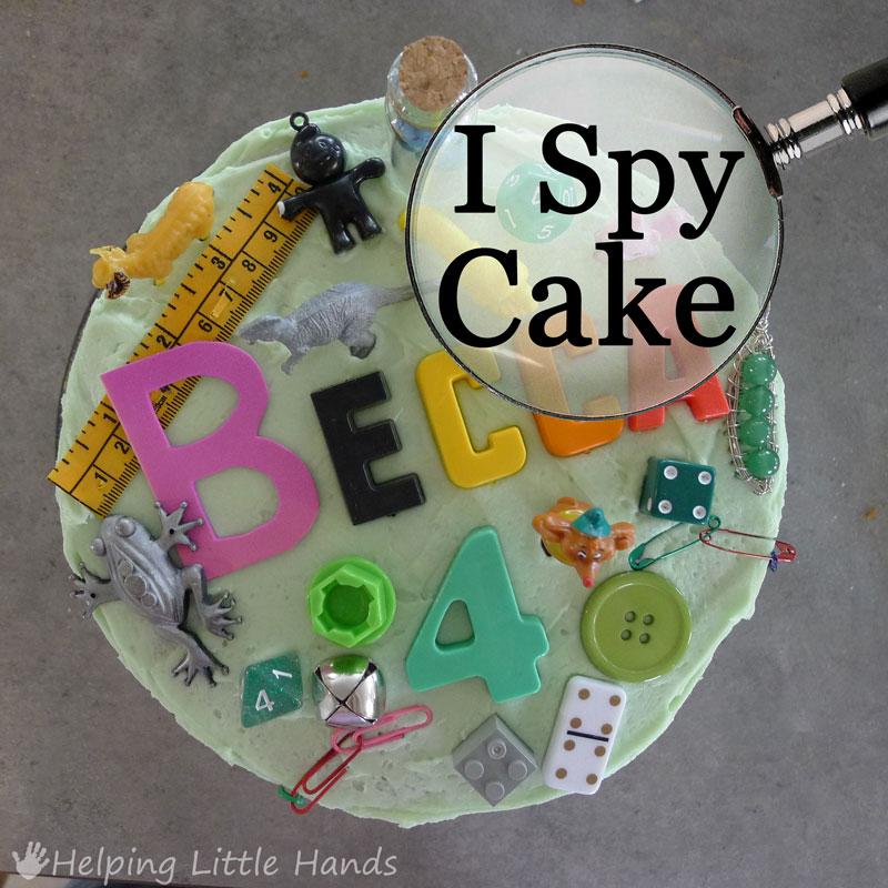 Pieces By Polly Super Easy I Spy Birthday Cake