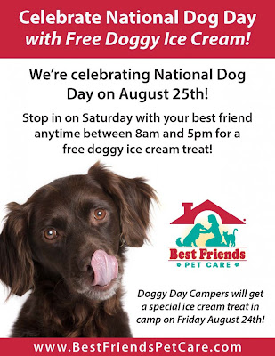 Free Doggy Ice Cream on 8/25 from 8AM - 5PM