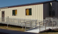 Atlanta modular office with handicap ramp.