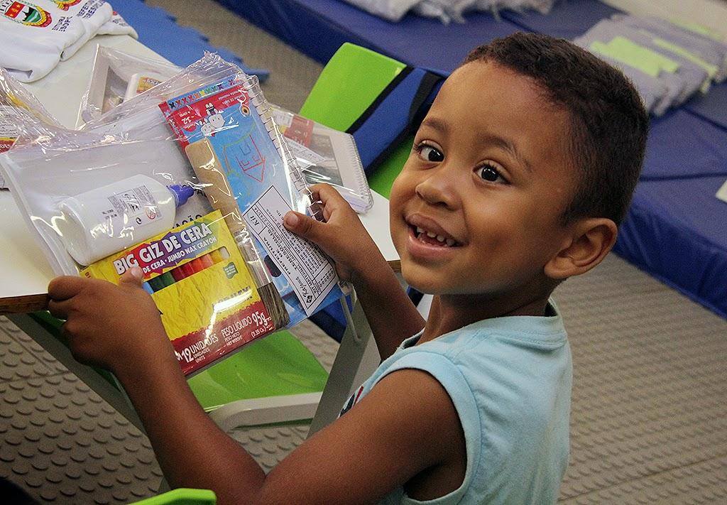 Todas as crianças matriculadas na nova creche vão receber os kits da Educação Infantil, incluindo material escolar e uniforme