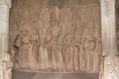 Lord Krishna holding the mountain, mahabalipuram