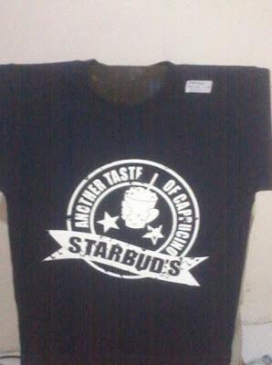 Kaos Crew starbud's coffeeshop - BDGN Semarang