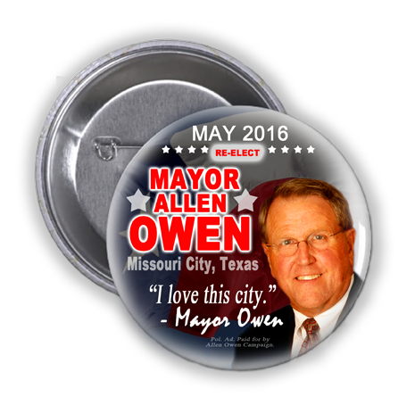 MAYOR ALLEN OWEN SAID YES WHEN ASKED IF HE VALUED OUR VOTE, PRAYERS, AND COMMUNITY