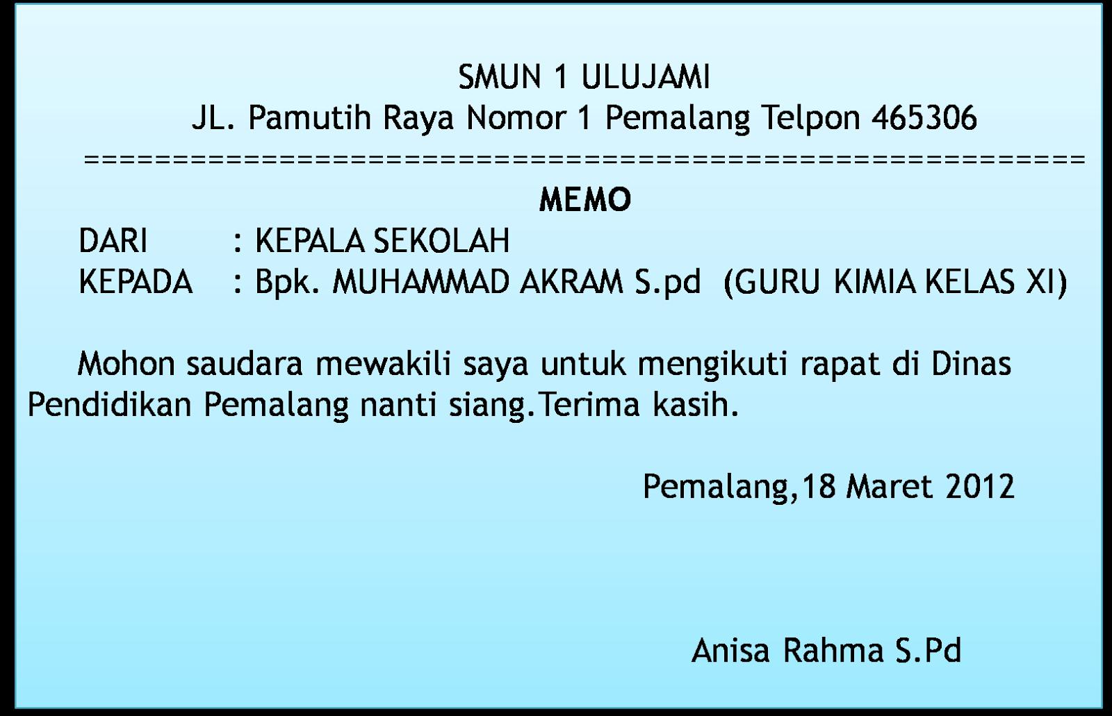 Contoh surat indonesia contoh memo dan penulisannya mei 2015 contoh memo dalam bahasa inggris stopboris Gallery