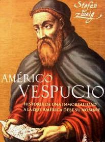 Imagen de Américo Vespucio en la portada del libro de Stefan Zweig