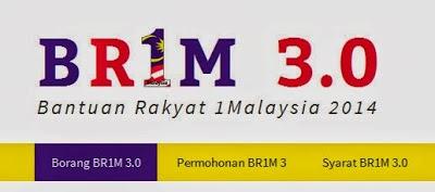 Permohonan Bantuan Rakyat 1Malaysia 2014 (BR1M 3.0) Secara Online