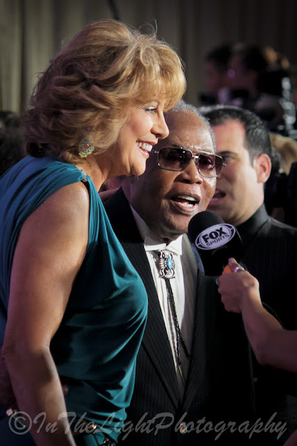 Celebrity Fight Night 2013 Red Carpet Nancy Lieberman Sam Moore