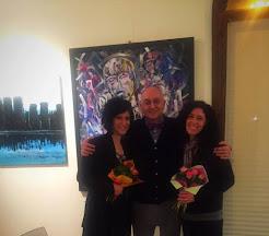 """Francesco De Florio con Mariangela Bagnolo ed Elisabetta Franceschini durante """"Mediterraneo"""" Tour"""