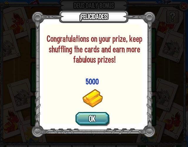 premio oro del bonus diario deus oro