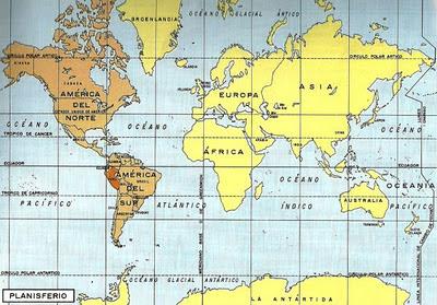 Mapa donde se ubica América del Sur