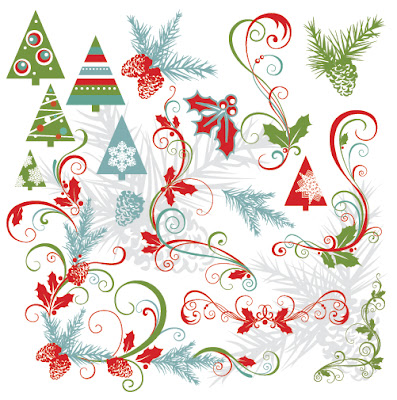 Beautiful Christmas Material Late Free Vector Graphics - 02