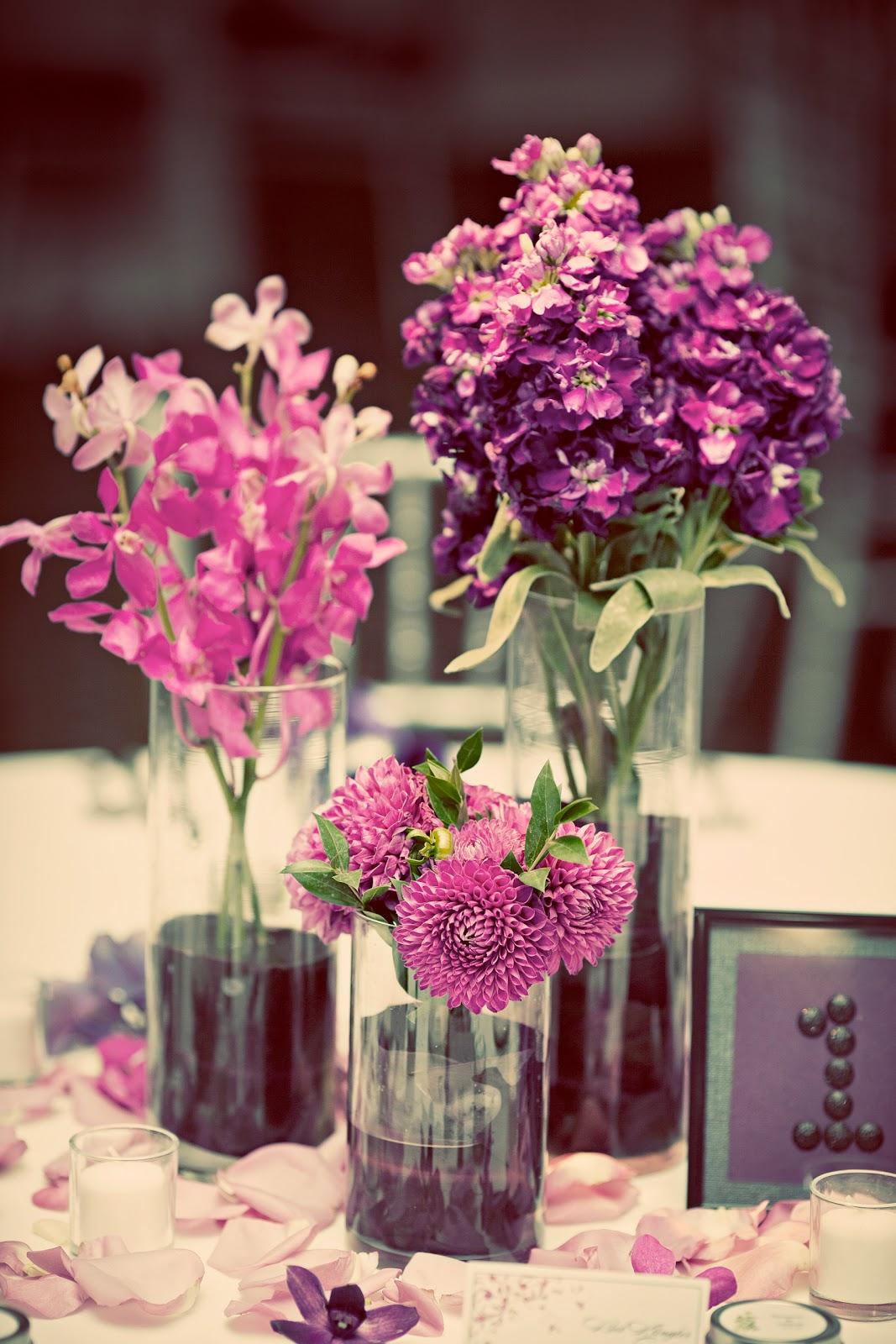 Mokara Floral Design: Aubergine and Plum Wedding