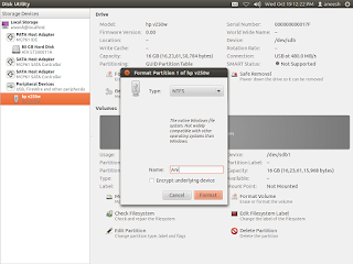 How to format USB or external drive in Ubuntu