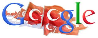 google cumhuriyet bayrami logosu google turkiye cumhuriyetinin 88. yili logosu