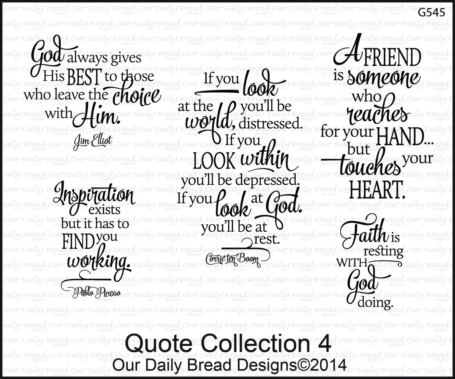 Stamps - Our Daily Bread Designs Quote Collection 4