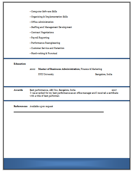 and resume samples with free download experienced resume format doc
