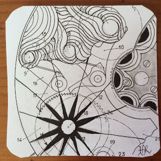 Zentangle, Diva Challenge #236, The Hour Glass, Verve, Vano, Crescent Moon, Light to go places