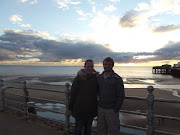 Laura and James on Blackpool beach (dscf )