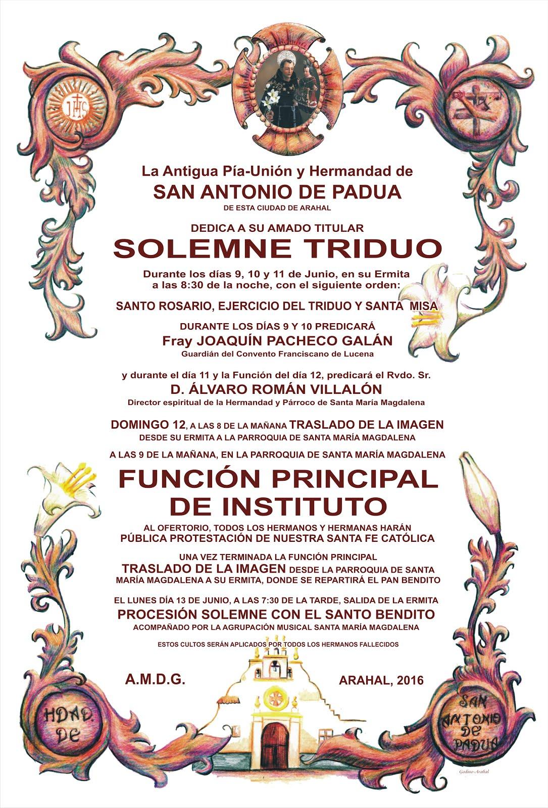 TRIDUO Y FUNCIÓN 2016