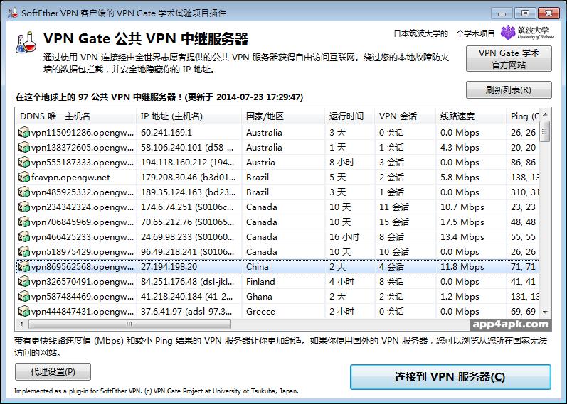 不限流量的免費 VPN 軟體推薦:VPN Gate Client 中文版下載