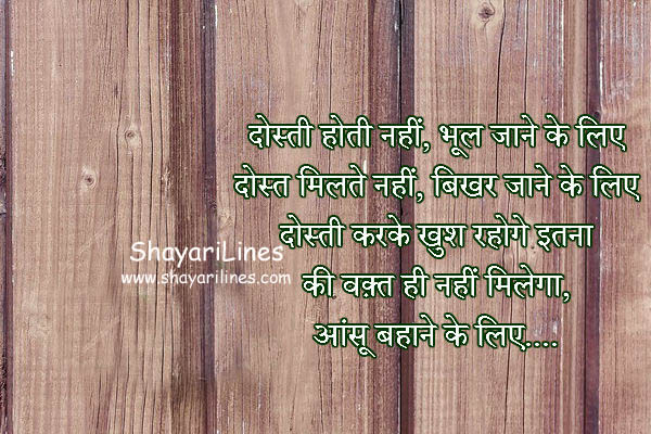 Very Sweet Dosti Shayari in Hindi