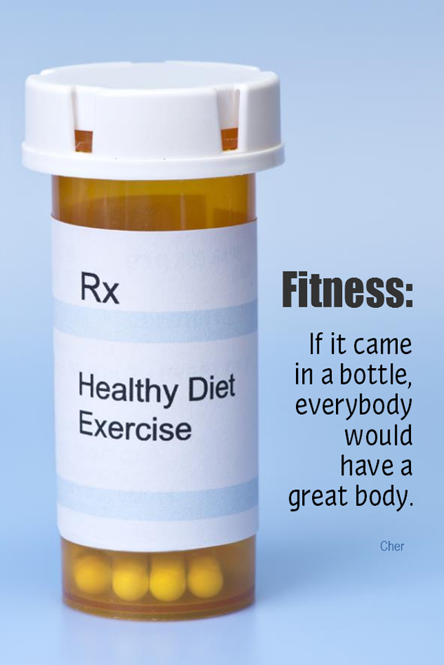 visual quote - image quotation for FITNESS - Fitness: If it came in a bottle, everybody would have a great body. - Cher
