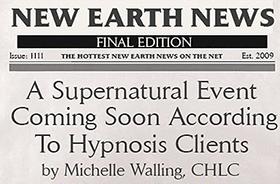 Ein übernatürliches Ereignis, das bald kommt, berichten Hypnose-Klienten