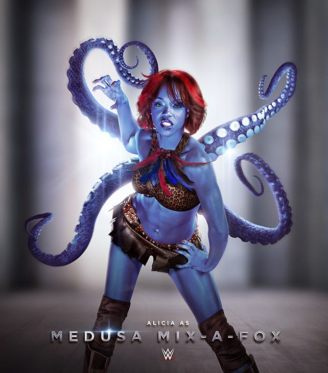 WWE Diva Alicia Fox as Medusa Mix-a-Fox