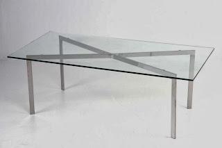 Mesa de Centro cristal, mesa centro acero, mesa salon baja