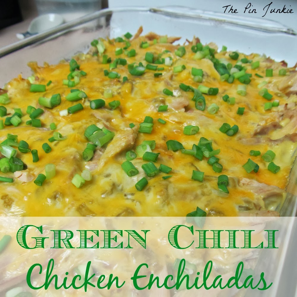 The Pin Junkie: Green Chile Chicken Enchilada Casserole
