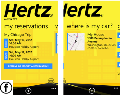Hertz app for windows phone 7
