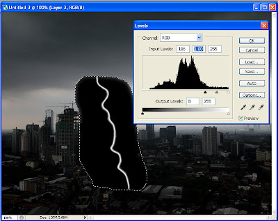 tutorial photoshop efek halilintar