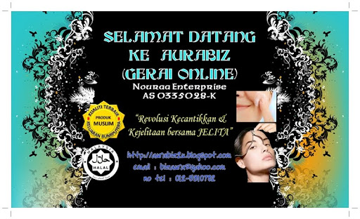 Selamat Datang Ke Gerai AURABIZ ~ Menjual Kosmetik dan Aksesori Wanita serta Lelaki.