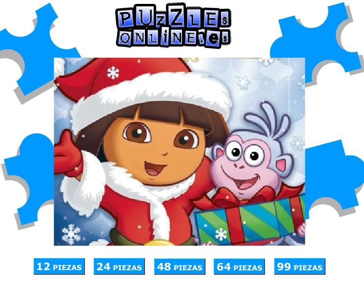 Puzzles Navidad :: Dora la exploradora