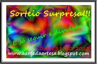 Sorteio Surpresa no Blog da Aline    31/10/2013 -