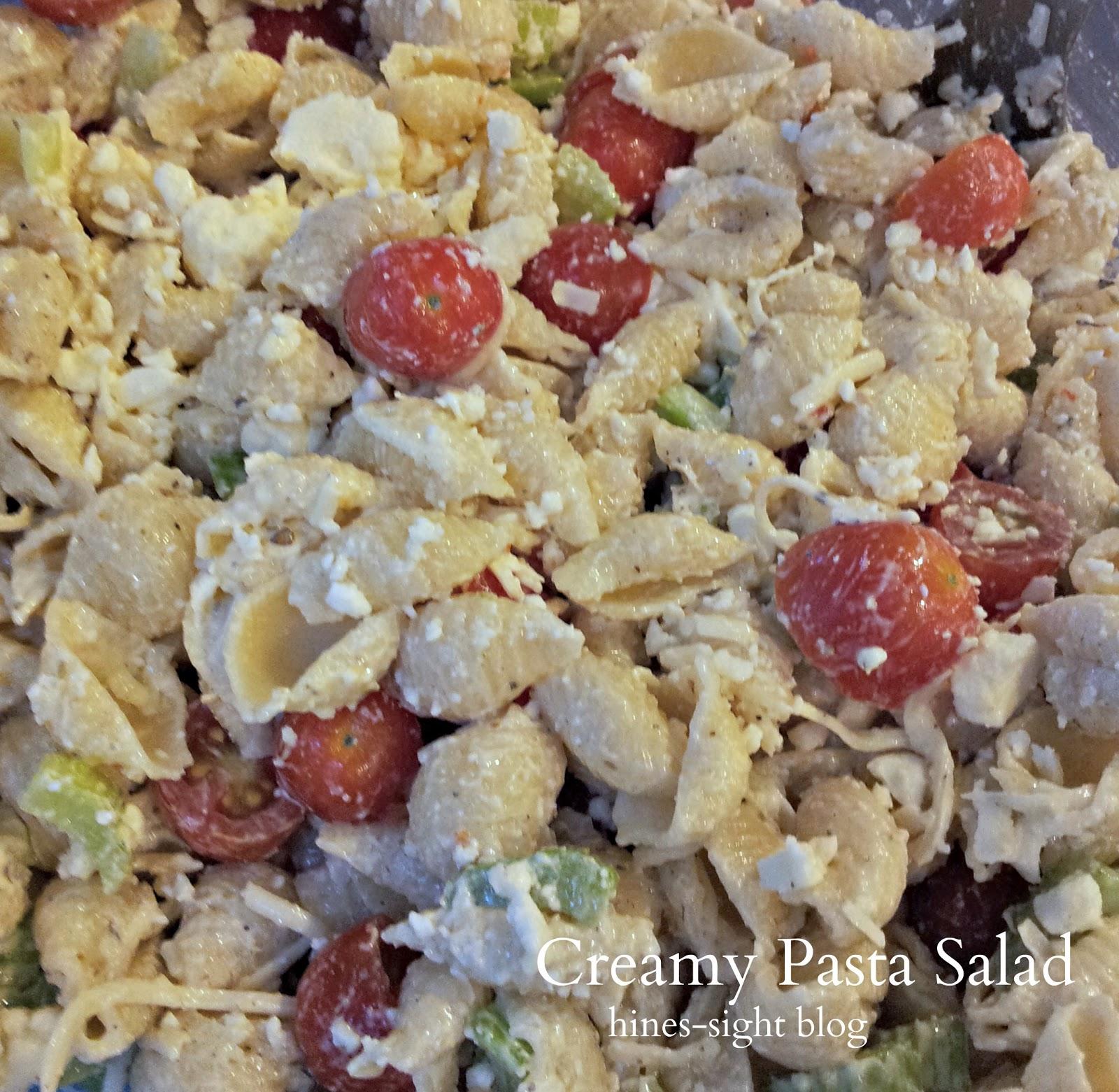 Easy Creamy Pasta Salad