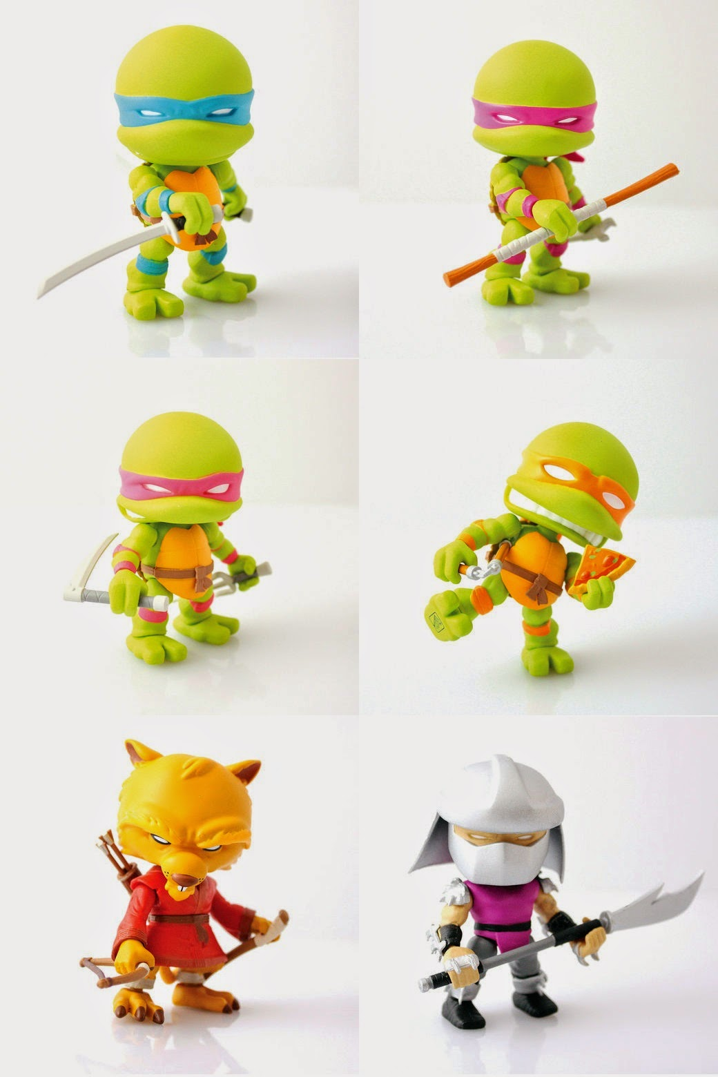 Gamestop Exclusive Teenage Mutant Ninja Turtles Mini Figures by The Loyal Subjects -  Leonardo, Donatello, Raphael, Michelangelo, Splinter & Shredder.jpg