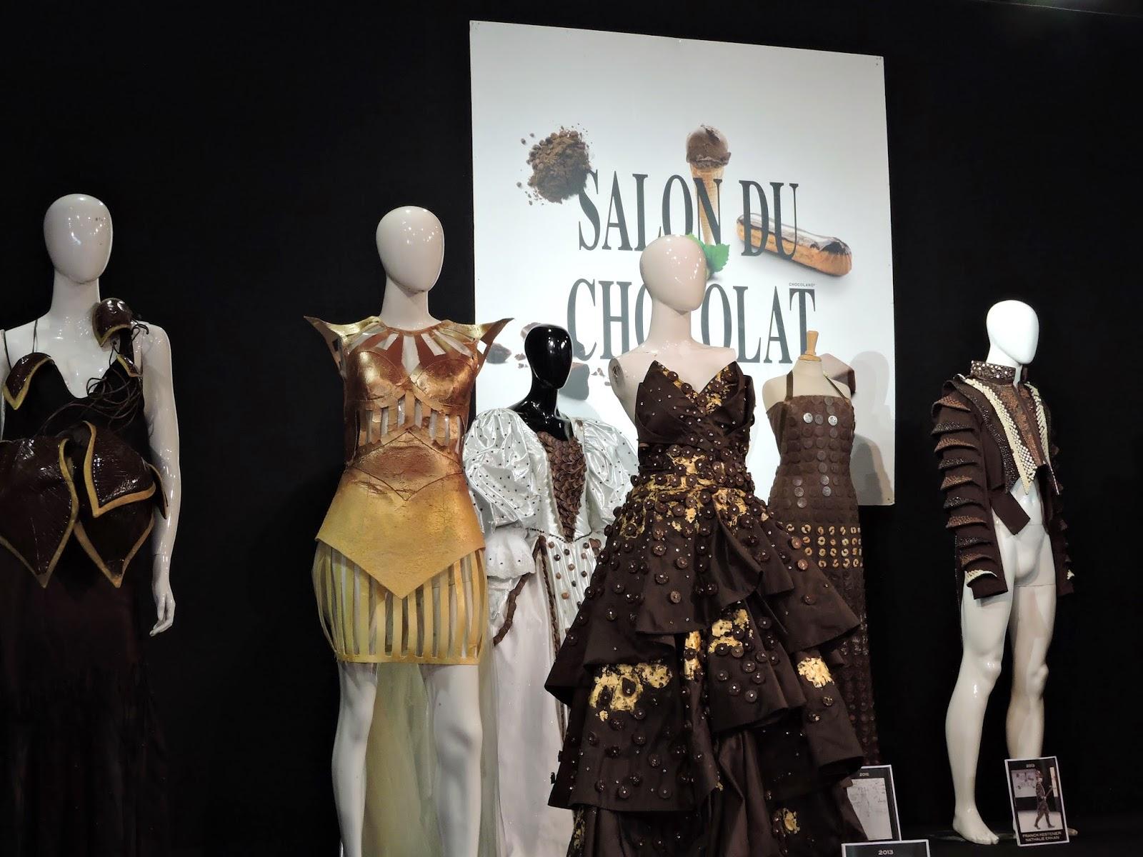 Robes en chocolat salon du chocolat à Bruxelles