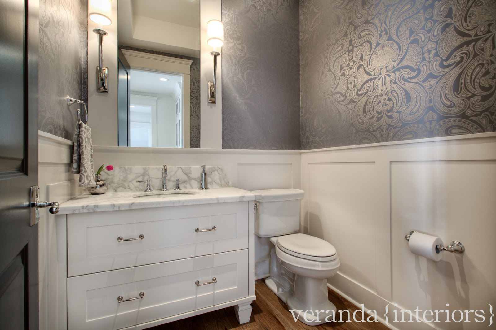 veranda interiors: Watermark {1} Powder Room