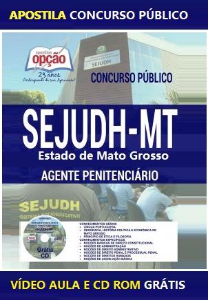 Apostila Sejudh Agente Penitenciário do Sistema Penitenciário de MT