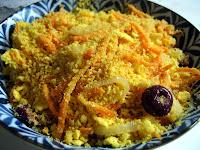 Farofa de Cenoura e Azeitonas Pretas (vegana)