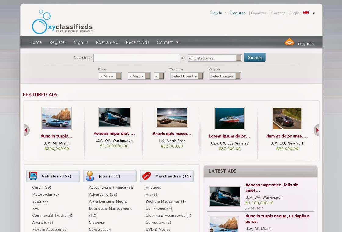 classified ad template word