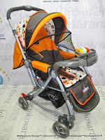 pliko pk398 rodeo orange kereta dorong bayi