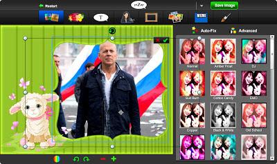 редактирование фотографии в бесплатном онлайн фото редакторе piZap для новичков