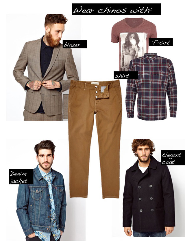 Wear chinos with..., men's outfits with chinos