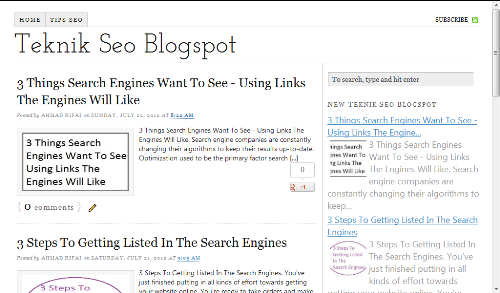 Thesis SEO Template for Blogspot