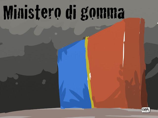 Gomma per cancellare ministero Gava Satira Vignette